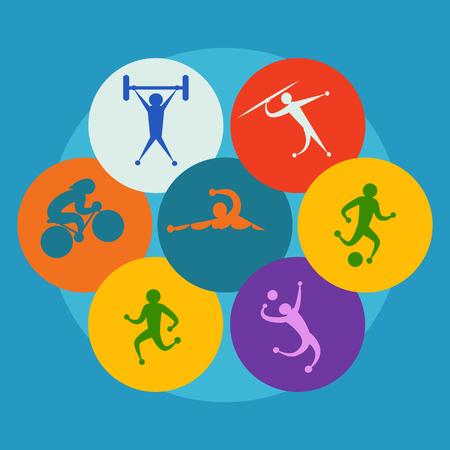 lanzamiento de jabalina: Iconos de vector de deporte