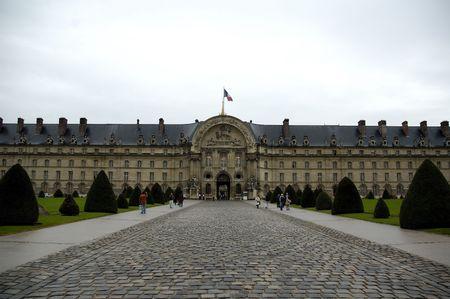 The entrance of the Hotel des Invalides. Paris.