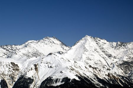 ski walking: The mountains in Krasnaya Polyana. Sochi - capital of Winter Olympic Games 2014. Russia.