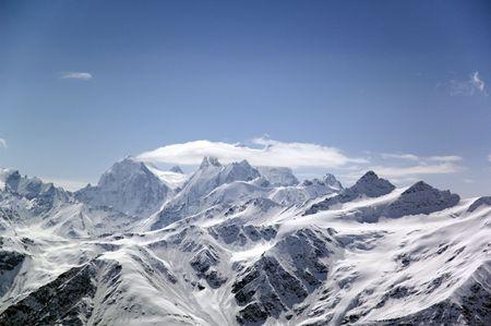 exult: Big high mountain. Caucasus. Russia.