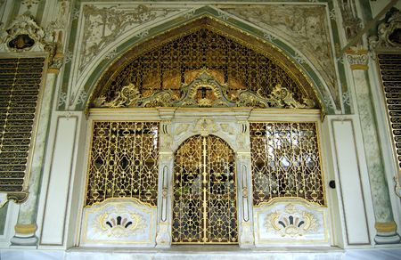 The one of harem`s entrance in Topkapi palace. Istanbul, Turkey.