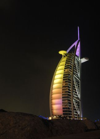 Burj Al Arab - the worlds most luxurious hotel. Dubai, United Arabic Emirates. Editorial