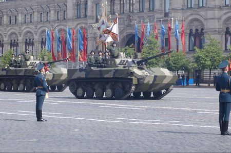 airborne vehicle: Airborne infantry fighting vehicle BMD-4 Bakhcha. Moscow Victory Parade of 2008.