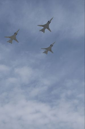 interceptor: Russian air force, 3 Tupolev Tu-22M. Moscow Victory Parade of 2008.