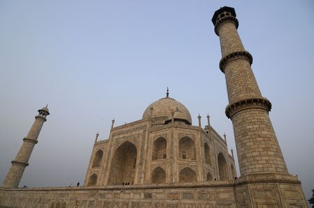 shah: The Taj Mahal, is a mausoleum located in Agra, India, that was built under Mughal Emperor Shah Jahan in memory of his favorite wife, Mumtaz Mahal