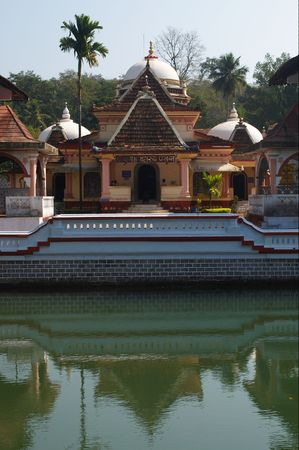 artefact: Shri Nageshi temple is one of the interesting temples in Goa. Stock Photo