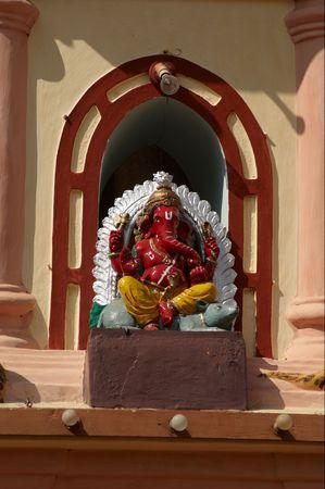 linga: Shri Nageshi temple is one of the interesting temples in Goa. Ganesha Stock Photo