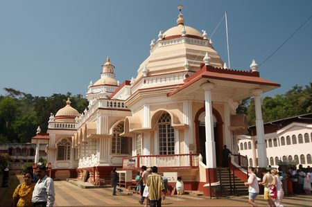 Shri Mangueshi temple is one of the largest, most enchanting, serene and most frequently visited temples in Goa. Stock Photo