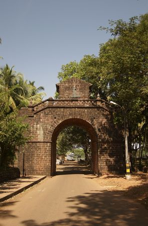viceroy: Arch of the Viceroy. Old Goa, India. Stock Photo