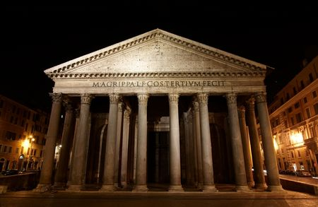 pantheon: Pantheon - one of the most famous building in Rome, Italy.
