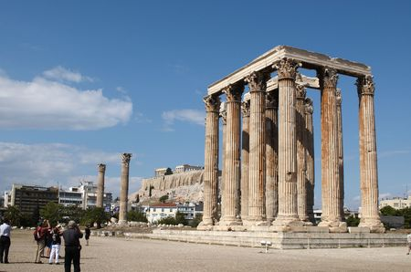 The Temple of Olympian Zeus (Greek: Naos tou Olimpiou Dios), also known as the Olympieion, is a temple in Athens.