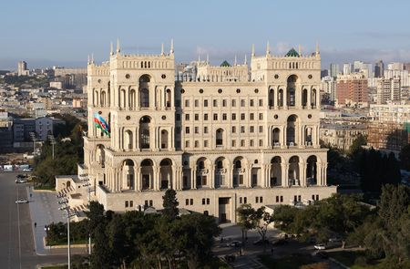 azerbaijan: Government`s House on Freedom square. Baku, Azerbaijan.