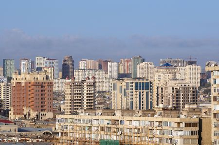 azerbaijan: View on the city center. Baku, Azerbaijan.  Stock Photo