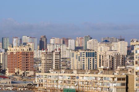 View on the city center. Baku, Azerbaijan.  Stock Photo