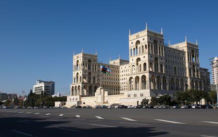 baku: Government`s House on Freedom square. Baku, Azerbaijan.