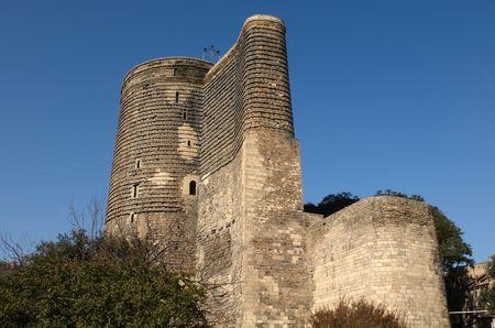 The Maiden Tower. (12th century). Baku, Azerbaijan. Stock Photo