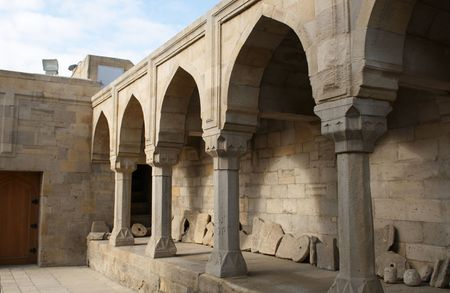 Shirvanshah kervansaray in Baku, Azerbaijan.