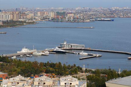 baku: Yacht`s marin in Baku, Azerbaijan.