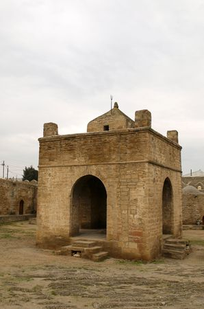 The Atashgah museum, castle-like former Hindu fire temple near Baku, Azerbaijan. Stock Photo