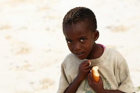 African children on Zanzibar island, social issues, poverty Stock Photo