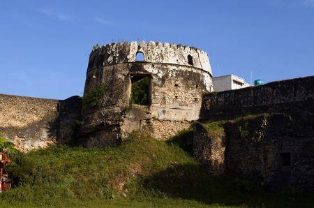 Old fort in Stowntown, capital of Zanzibar island Stock Photo