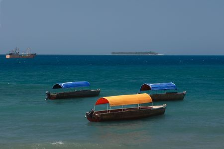View on water area of Stowntown, capital of Zanzibar photo