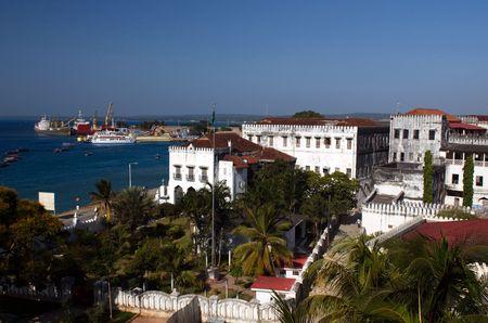 zanzibar: Dak van Stowntown de hoofdstad van Zanzibar  Stockfoto