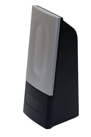 PC speakers isolated on a white background photo