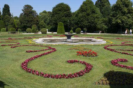 schonbrunn palace: Landscape park of Schonbrunn Palace. Vienna, Austria