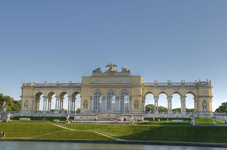The Gloriette in the Schonbrunn Palace Garden, Vienna, Austria Stock Photo