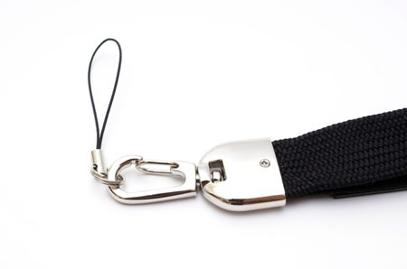 lanyard: Bottom of lanyard, lock and lace for office badge Stock Photo