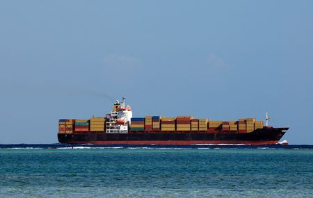 Huge container cargo ship in Red sea Stock Photo - 5863904
