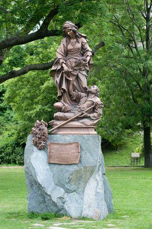 elisabeth: Statue Saint Elisabeth of Hungary. Bratislava, Slovakia. Stock Photo
