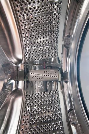 Interior view of a washing machine drum photo