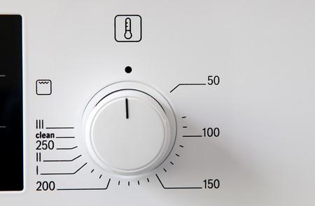 Modern kitchen stove control panel photo