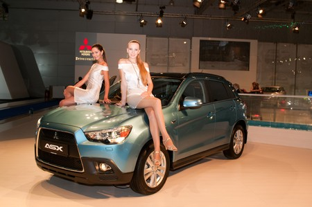 MOSCOW, RUSSIA - August 26: Moscow International Automobile Salon 2010. Mitsubishi ASX - russian premiere.