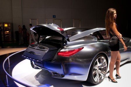 motor show: MOSCOW, RUSSIA - August 26: Moscow International Automobile Salon 2010. Infiniti Essence Concept car