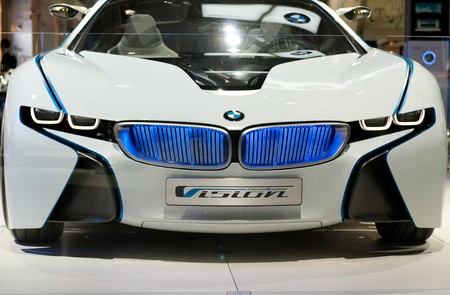 MOSCOW, RUSSIA - August 26: Moscow International Automobile Salon 2010. BMW Vision EfficientDynamics Concept car