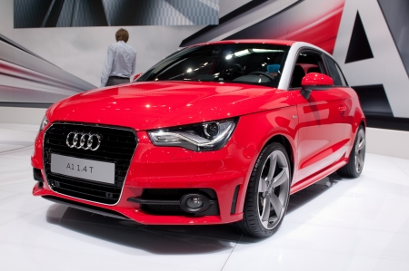 MOSCOW, RUSSIA - August 26: Moscow International Automobile Salon 2010. Audi A1 - russian premiere Editorial