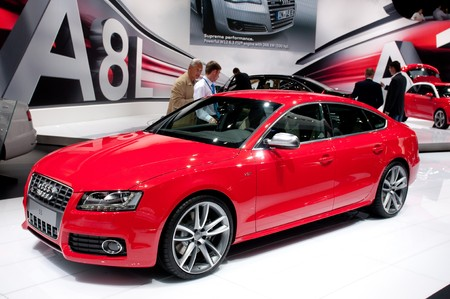 MOSCOW, RUSSIA - August 26: Moscow International Automobile Salon 2010. Audi S5 Sportback - russian premiere