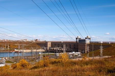 hydroelectric station: Irkutsk idroelettrica. Irkutsk - principale citt� del lago Baikal. Russia.