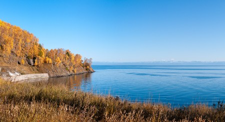 voluminous: Autumn at Lake Baikal - oldest, deepest and most voluminous freshwater lake in the world