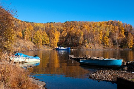 the deepest: Autumn at Lake Baikal - oldest, deepest and most voluminous freshwater lake in the world