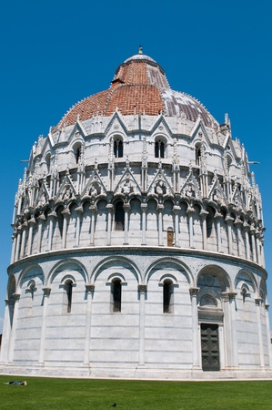 The Baptistry of the Cathedral of Pisa. Piazza dei miracoli, Pisa, Italy. Stock Photo - 8573790