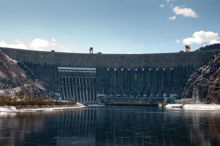 Sayano�Shushenskaya hydroelectric power station. Khakassia, Russia. photo