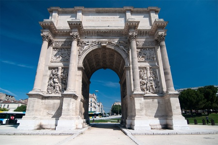 Arch of Triumph in Marseilles, France Stock Photo