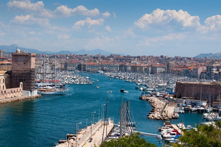 Old port (Vieux Port) - one of the main sight in Marseille, France
