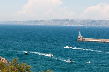 Entrance of the marina of Marseille (Vieux-Port). photo