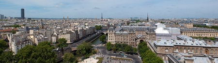 Panorama of Paris from Notre Dame. Eiffel and Monparnasse in the background. France photo