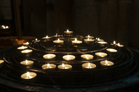 Candles in Notre-Dame de Paris Stock Photo - 9804011